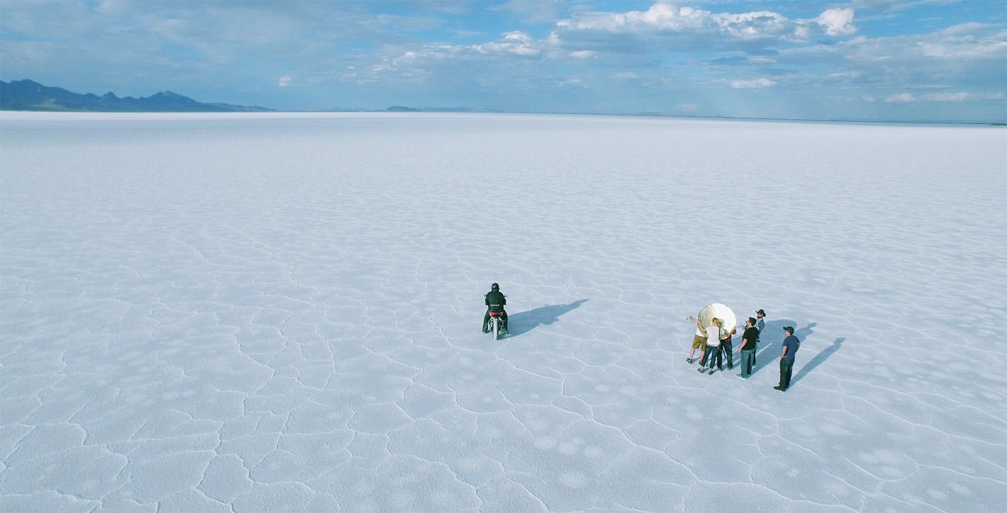 Salt Flats Aerial View